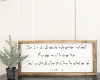 1 John 3:18 Sign