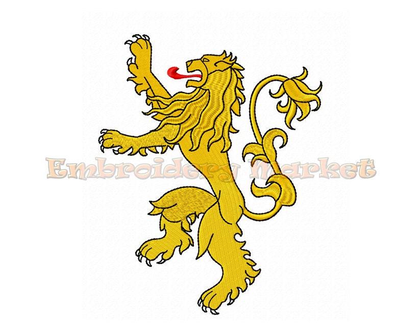 Heráldico León desenfrenado juego de tronos Targaryen Sigil | Etsy