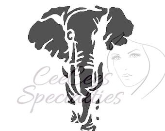 Elephant Silhouette Stencil