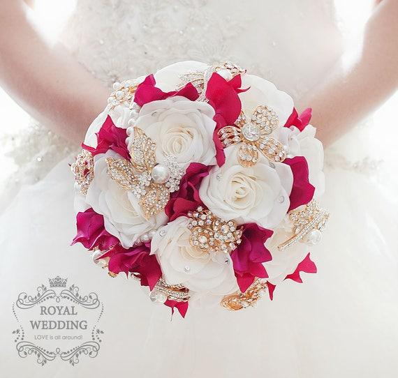 Brautstrauss Brosche Bouquet Vintage Hochzeit Bouquet Etsy