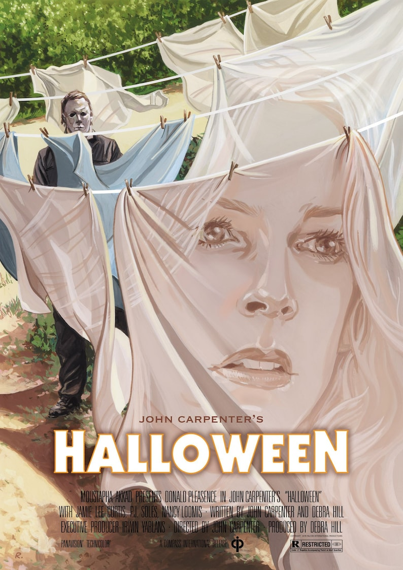 Halloween 1978 Movie Poster.Halloween 1978 Movie Poster Print A3