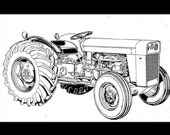 MASSEY FERGUSON MF50 Tractor Parts Manual for MF 50