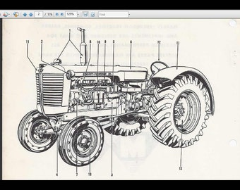 MASSEY FERGUSON 165    Tractor    Parts Manual 390pg of Exploded   Etsy