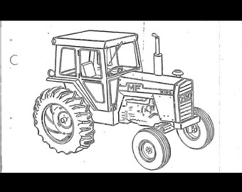 MASSEY FERGUSON 165 Tractor Parts Manual 390pg of Exploded
