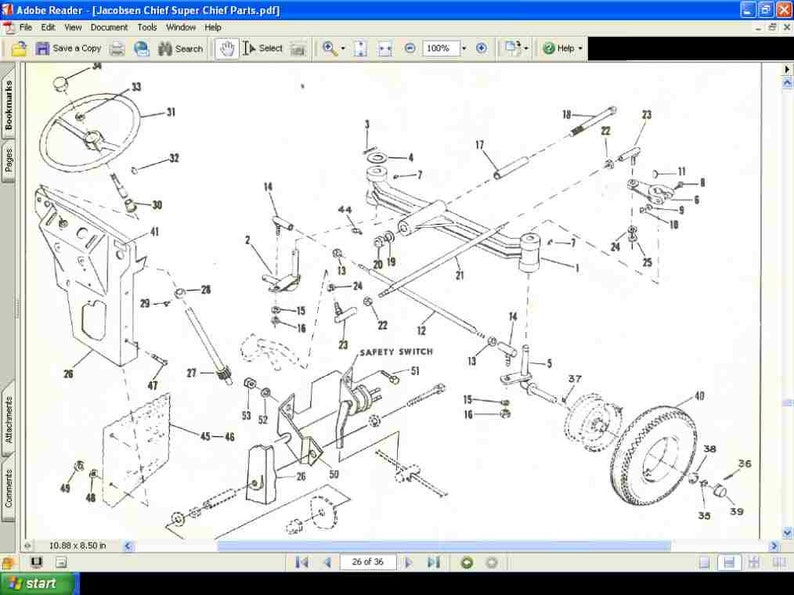 jacobsen tractor wiring diagram wiring diagram Wheelhorse Wiring Diagram jacobsen chief wiring diagram wiring diagramjacobsen tractor operationss and parts manuals 90pgs for 800 etsyjacobsen tractor
