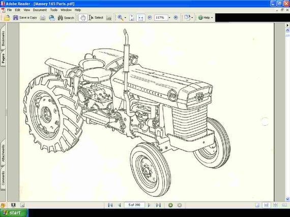 massey ferguson 165 tractor parts manual 390pg of exploded etsy rh etsy com Massey Ferguson 165 Tractor Specs Massey Ferguson 165 Parts Diagram