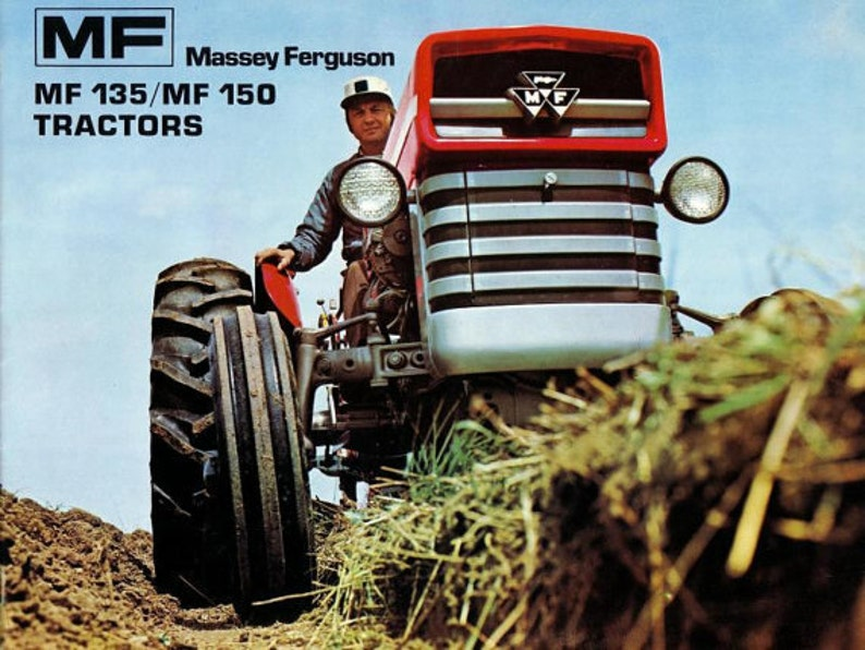 Massey Ferguson MF 135 148 Tractor Workshop Manual 535pg with Service &  Repair data