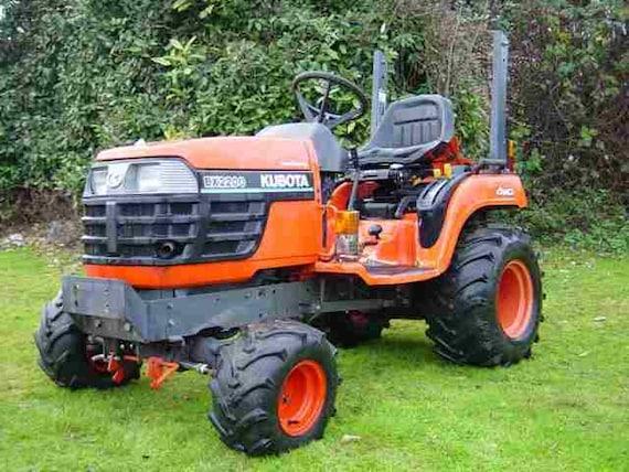 Kubota BX1800 BX2200 Tractor Service Repair Manual on CD