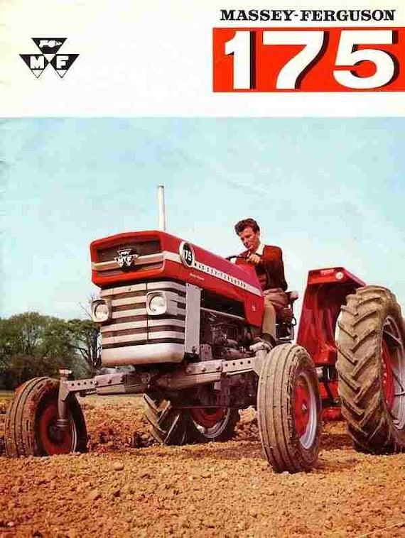 MASSEY FERGUSON MF 175 OPERATIONs MANUALs For MF175 Tractor Service Tuning Maintenance