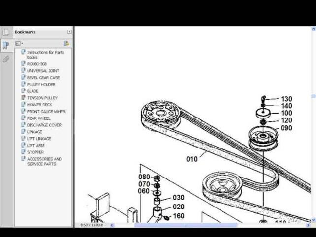 kubota rck mower workshop and parts manuals 140pgs for etsy rh etsy com Kubota RCK60 Mulch Kubota Engine Manual