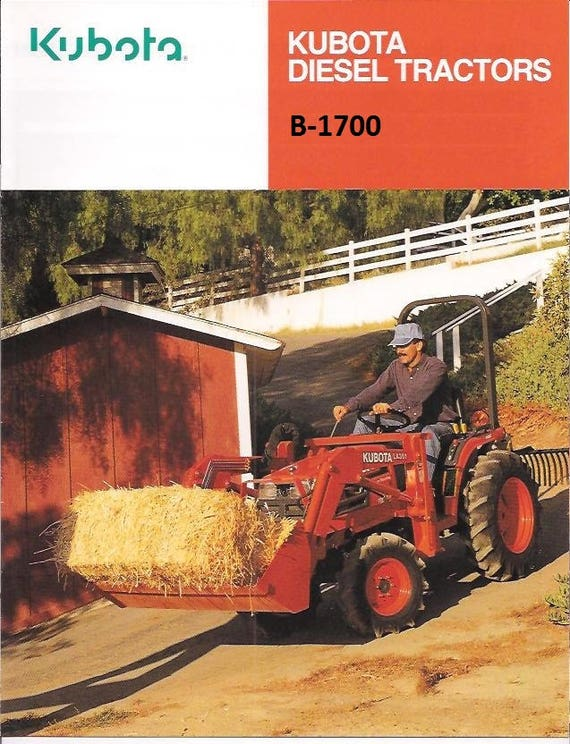kubota b1700 b2100 b2400 tractor service manual 460pg with etsy rh etsy com Kubota Operators Manual GR2100 Kubota Owners Manuals