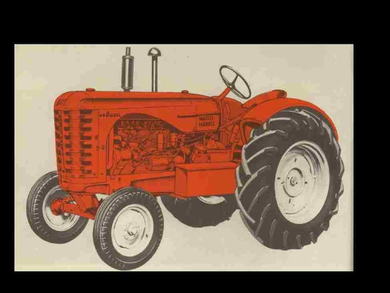 massey harris wiring diagrams massey harris 44 tractor operations service and parts manual etsy  massey harris 44 tractor operations