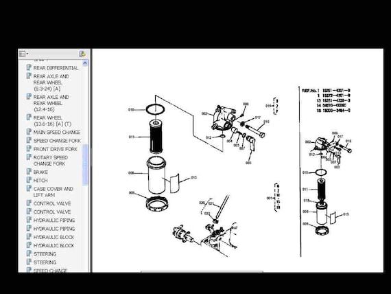 kubota b8200 tractor manuals with rcb 60 mower b4672 etsy kubota tractor wiring diagrams kubota b8200 wiring diagram #4