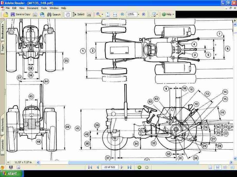 Mey Ferguson Wiring Diagram Mey Ferguson Mf230 Wiring Diagram Free