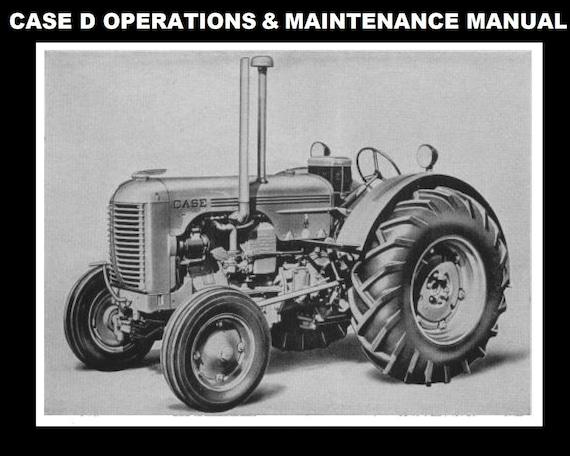 case model d tractor service manual