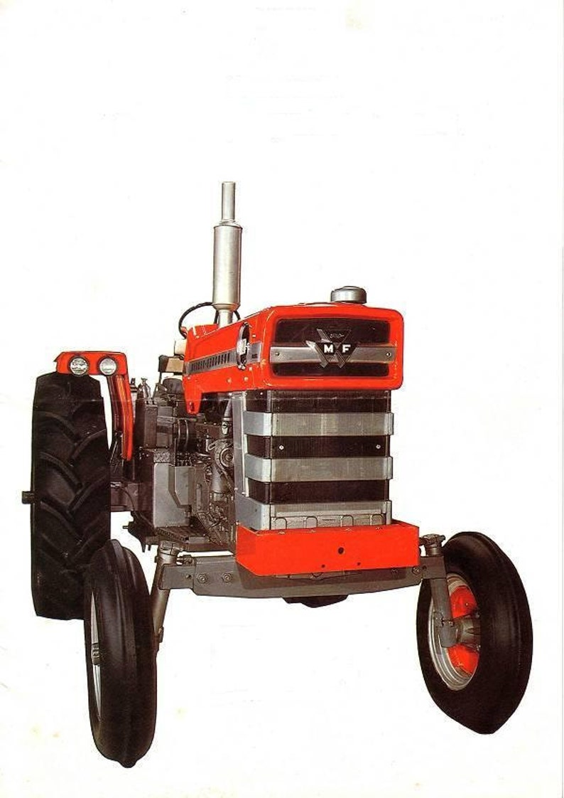 MASSEY FERGUSON 1100 & 1130 Overhaul Service Manual Set - 325pg for MF1100  MF1130 Tractor Repair - with Vintage MF1100 Brochure and Ad Art