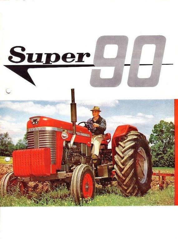 massey ferguson super 90 operations manual for mf90 tractor   etsy  etsy