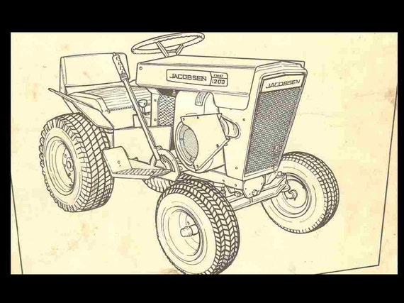 jacobsen tractor operationss and parts manuals 90pgs for 800 rh etsy com Harley Golf Cart Wiring Diagram 19E Yamaha Golf Cart Wiring Diagram