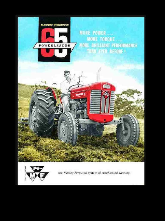 Massey Ferguson 65 Gas And Diesel Operations Manual Collection Etsy