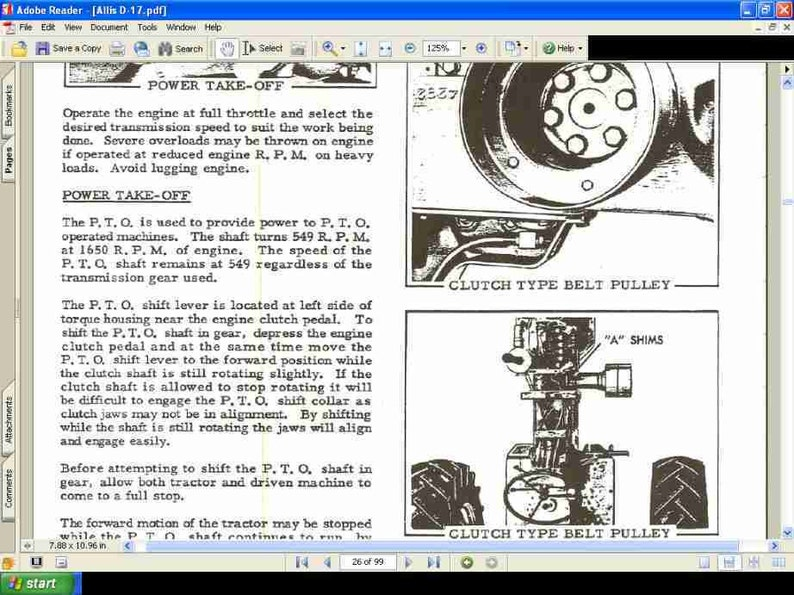 Allis Chalmers D17 Complete Parts Manuals 300pg W   D