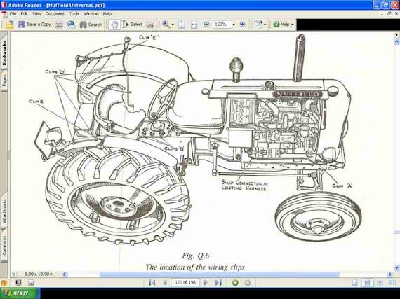 Nuffield Universal 3 /& 4 Traktor Werkstatt Handbuch