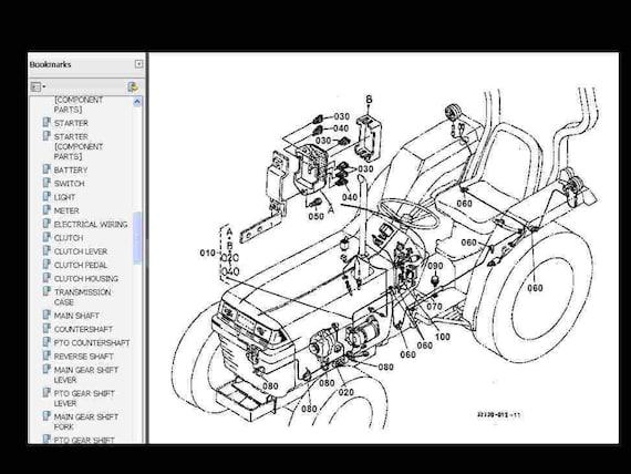 Wiring Diagram Kubota Parts Diagram