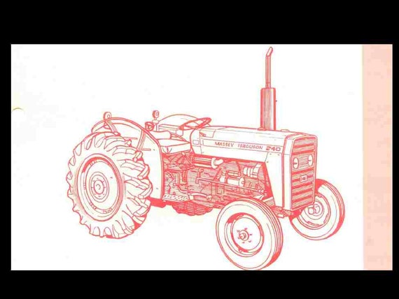 massey ferguson mf 240 tractor parts manual 135pgs for mf240 | etsy  etsy