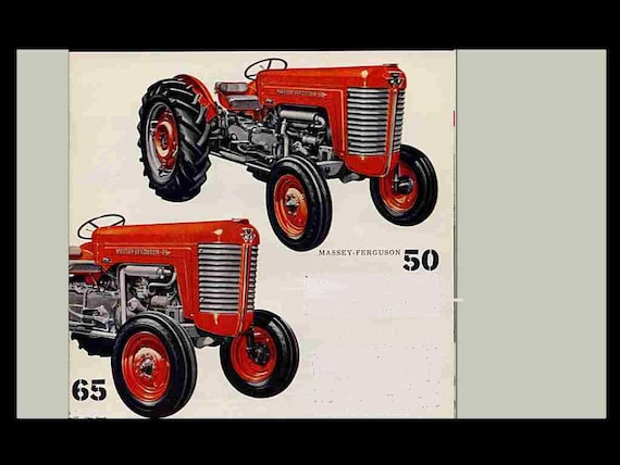 Massey Ferguson Mf 50 65 Tractor Service Manuals 350pgs With Etsy