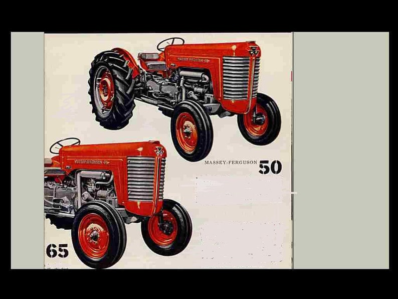 Massey Ferguson MF 50 65 Tractor Service Manuals 350pgs With MF50 MF65 Overhaul And Repair Instuctons