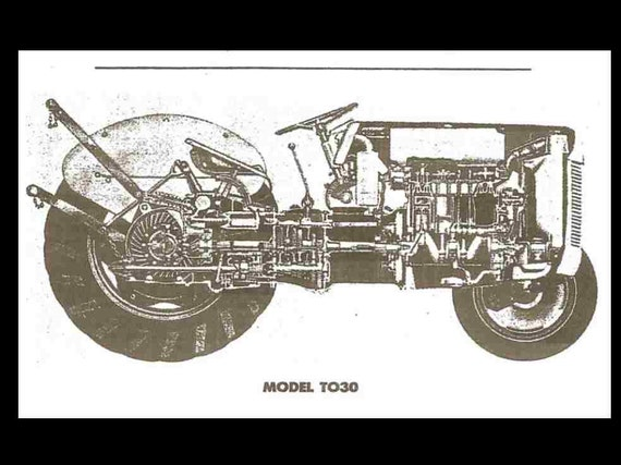 FERGUSON TE20 TO30 Tractor Service Manual Collection Set - 440pgs for Te20  To20 To30 and Te-a20, Te-c20, Te-d20, Te-e20,Te-h20