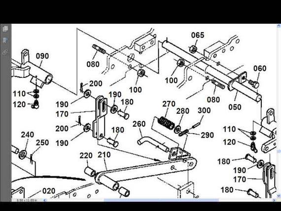 KUBOTA RCK Mower Workshop and Parts Manuals - 140pgs for RCK60-24B  RCK60B-22BX RCK60-30B Service and Repair