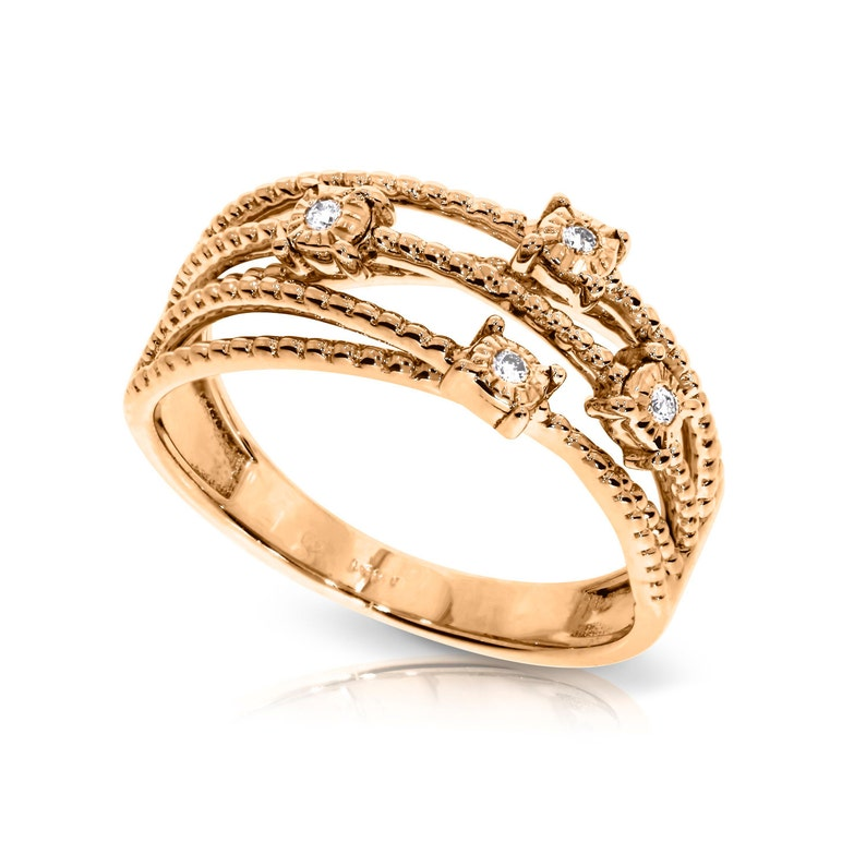 Fine Rings Honest 14k Rose Gold Ring 1.00 Ct Round Cut Diamond Wedding Beautiful Ring Size N O P Jewelry & Watches