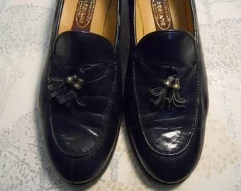 9eedbd8725 Vintage in pelle italiana mocassino scarpe blu Navy UK 6/39. Stati Uniti  8/8.5 superba qualità Preppy Shoes. Gucci/Crockett & Jones Vibe