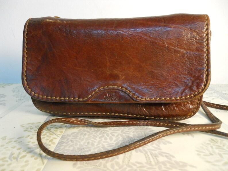 ce59309548a6 Vintage The Bridge Leather Shoulder Bag Purse Pochette Bag