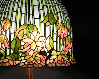 Tiffany Lotus Lamp Etsy