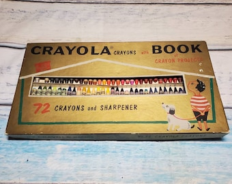 Crayons Chalk Board Crayon Sharpener And Paper In Very Good Vintage Condition Vintage 1980 Crayola Drawing Desk With Chalk Markers