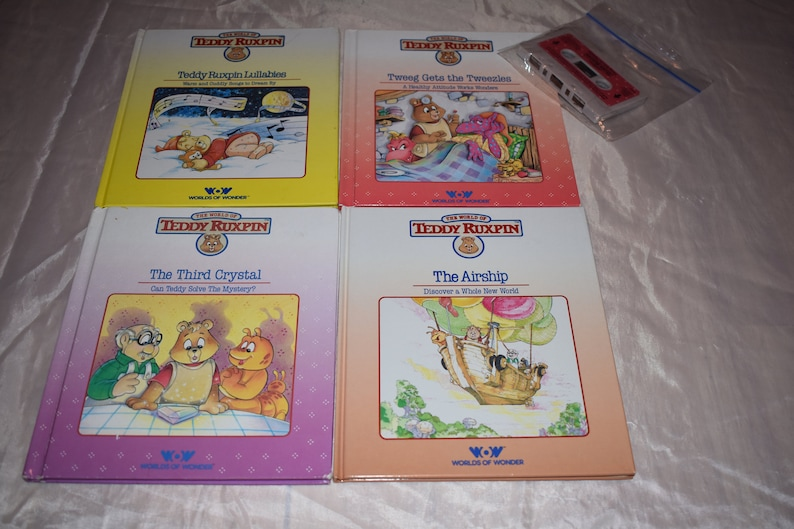 TEDDY RUXPIN BOOK//TAPE THE AIRSHIP WORKS WORLDS OF WONDER