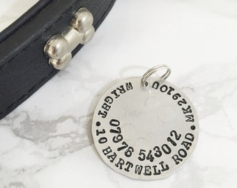 Replacement disc for dog tag - change of address dog tag - personalised ID dog tag