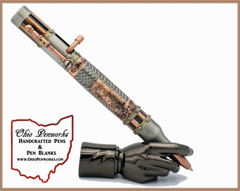Bolt Action Steampunk Ballpoint Bullet Pen   A Very Unique Gift For Her, Or Her