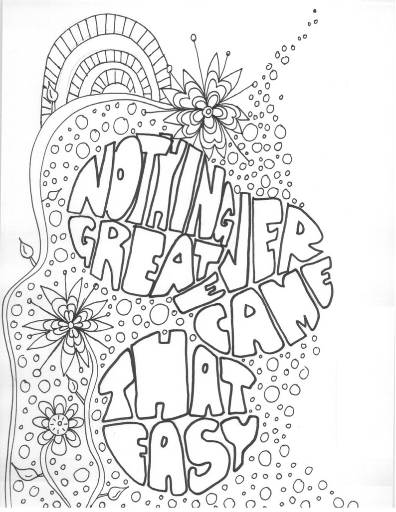 - Adult Coloring Book Coloring Book Artspiration Motivational Etsy