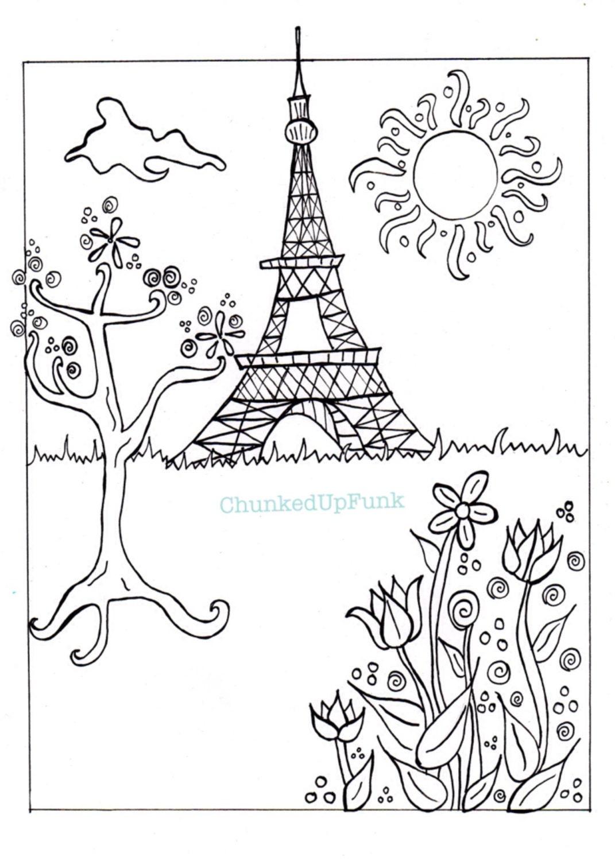Kleurplaten Voor Volwassenen Parijs.Parijs Afbeelding Pdf Kleurplaat Parijs In De Lente Stad Etsy