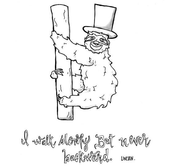 Dibujo perezoso cotización dibujo de Lincoln Lincoln pereza | Etsy