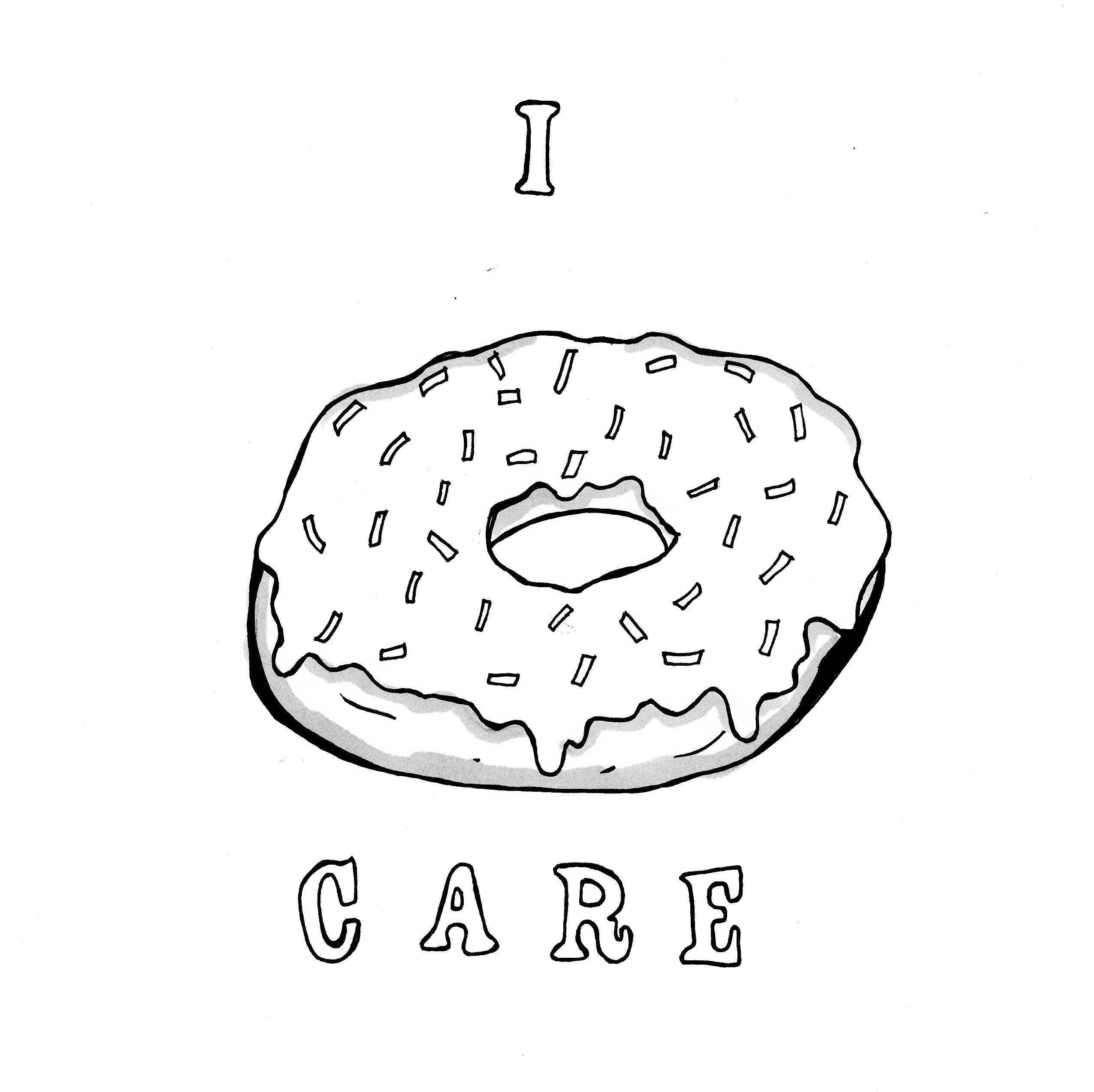 Yo Dona cuidado para colorear hoja Donut para colorear arte | Etsy
