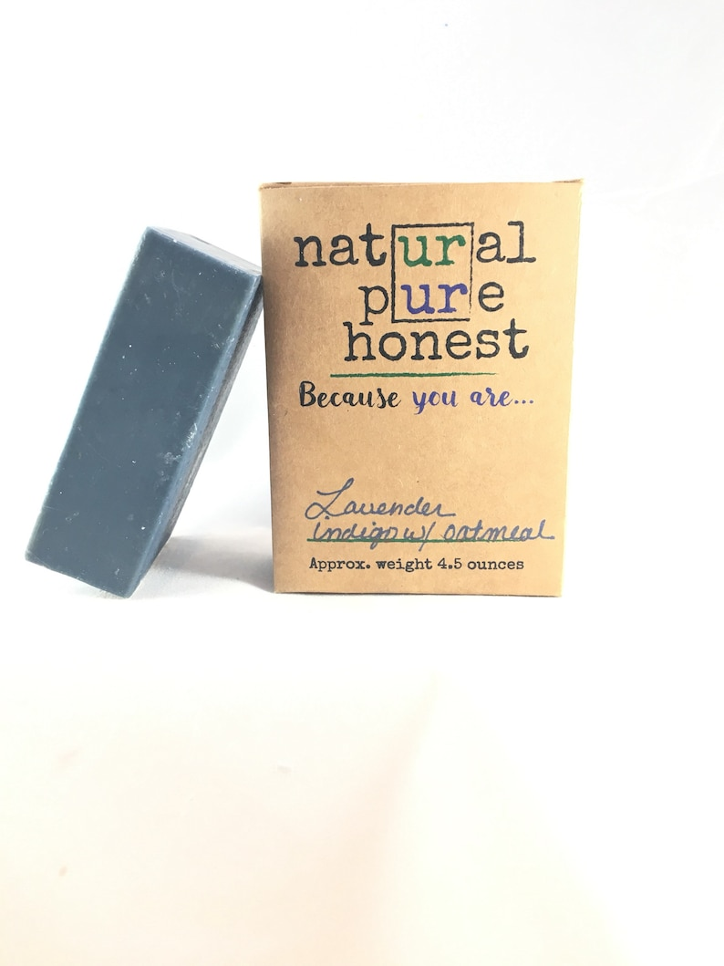 Goat's Milk Lavender Soap w. Indigo  Free Shipping image 0