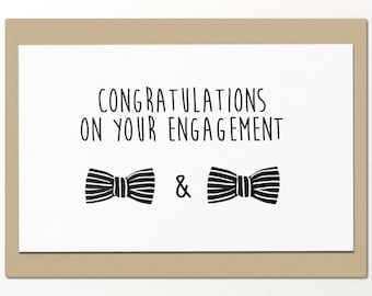 congrats on your engagement // funny greeting card // best friends card // gay marriage // gay rights // equalize gay marriage