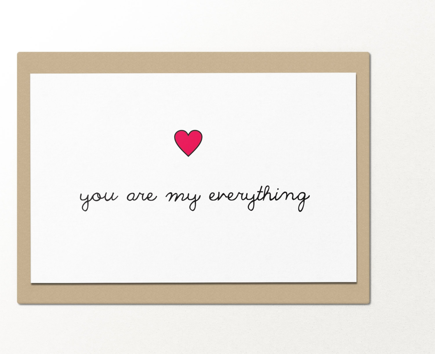 You Are My Everything Funny Greeting Cards Relationship Etsy