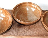 Set of 3 bowls for olives and dips.  Wattlefield Pottery handcrafted by Andrea Young at her Norfolk studio.  Stoneware.