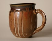 Mug for tea, coffee, or hot chocolate.  Hand crafted by Andrea Young.  Wheel - thrown stoneware.