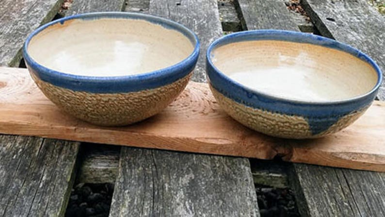 Bowls Set of two.  Wattlefield Pottery handmade by Andrea image 0