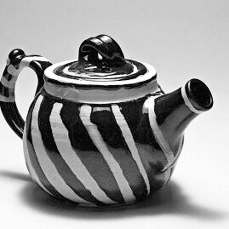 Wattlefield Pottery Teapot handmade by Andrea Young. image 0